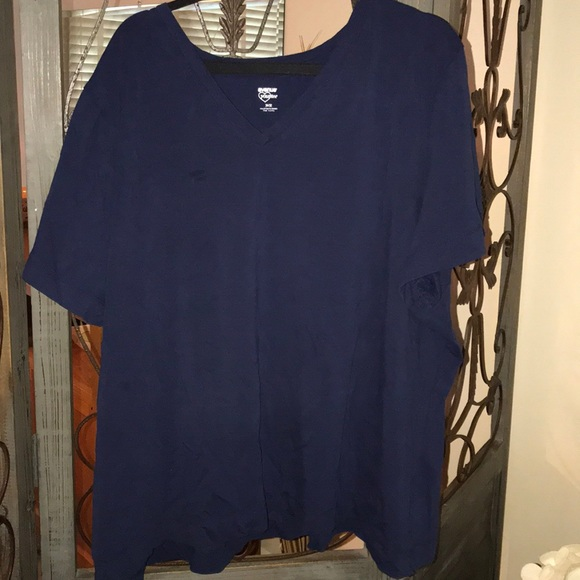 Avenue Tops - Plus size 30/32 navy blue V-neck tee short sleeve